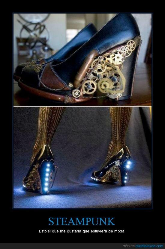 engranaje,luz,steampunk,tacones,zapato