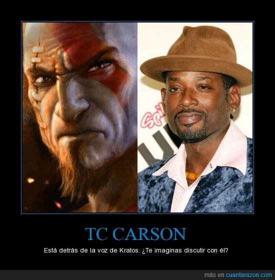doblador,god of war,gow,Kratos,TC Carson,voz