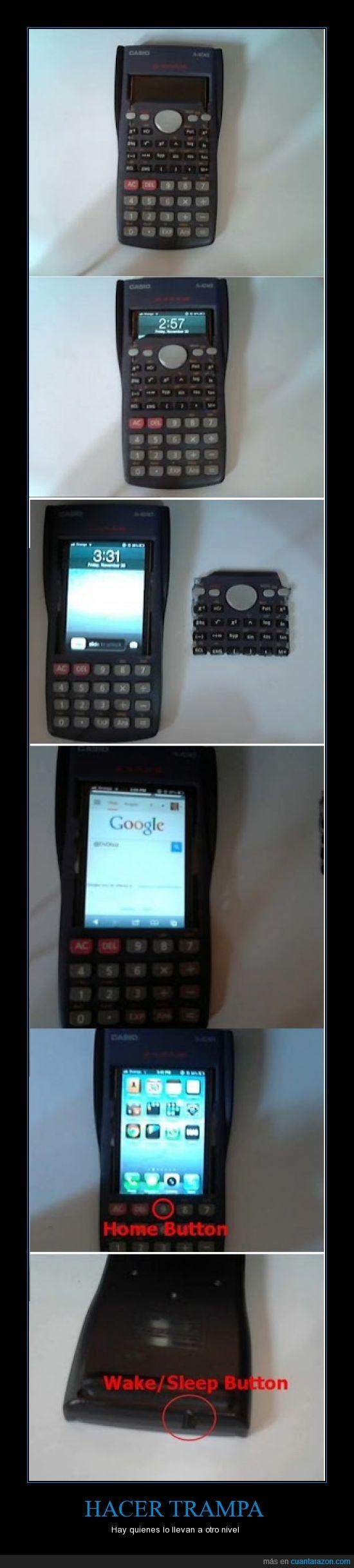 calculadora,chuleta interactica,copiar,disimular,movil