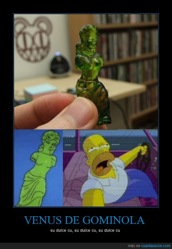 homer,los simpson,su dulce cu,the simpson,venus de gominola
