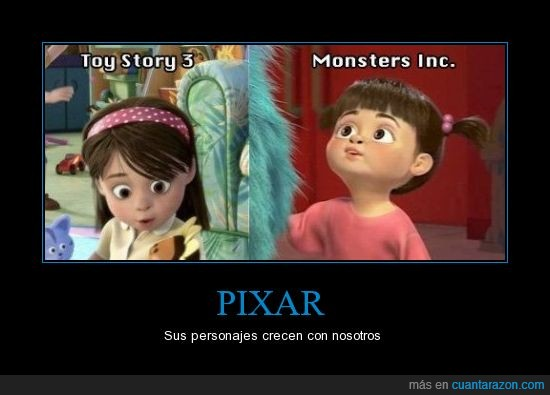Boo,Esto cambio mi vida,Monsters inc,Pixar,Toy story