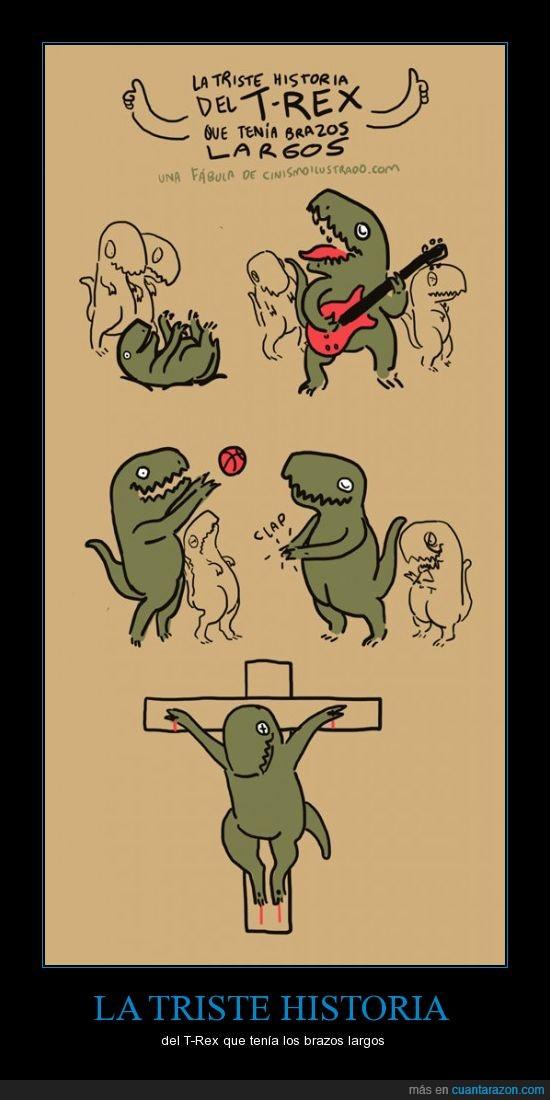 crucifixión,historia,t-rex,triste