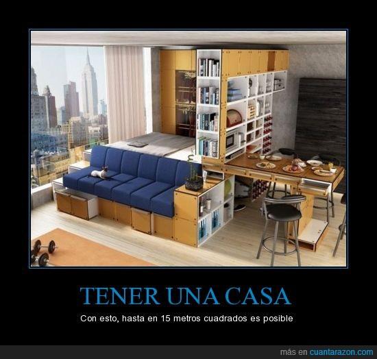 15,cama,casa,mesa,muebles,pequeña,posible,sofá