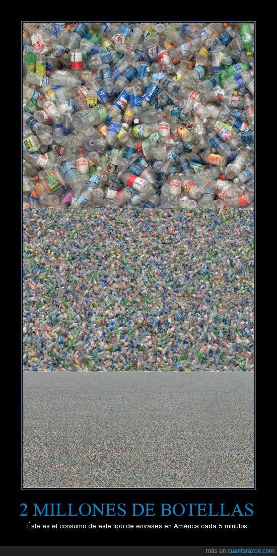 américa,botellas,consumismo,mural,plástico,refrescos