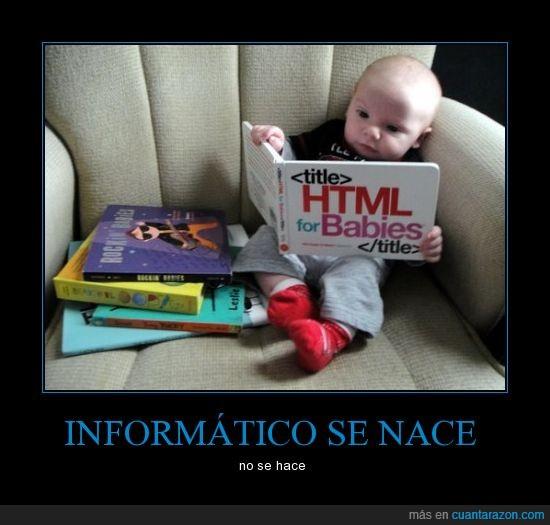esto de la programacion es apasionante,html,informático,leer,libro,niño