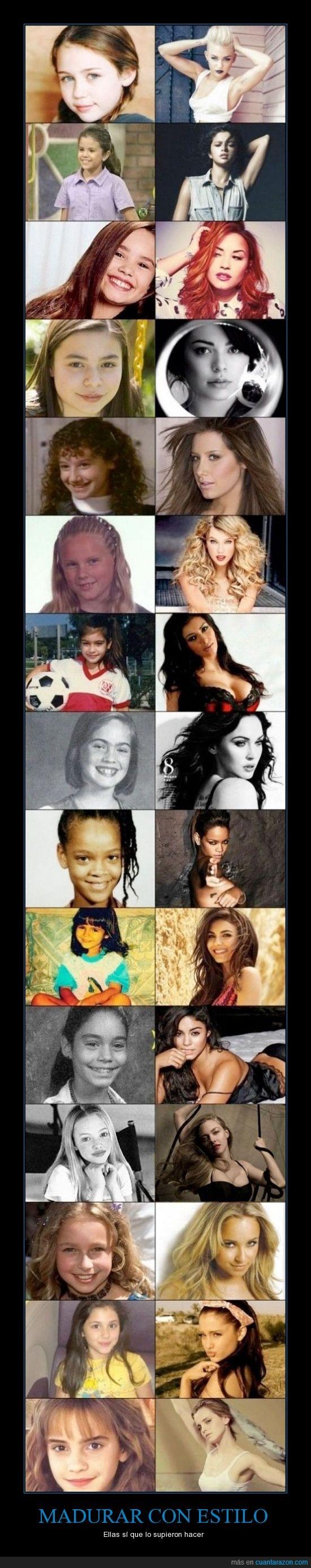 actrices,amanda seyfried,ashley,crecer,demi,emma watson,estilo,hayden,hermione,madurar,megan fox,miley,niñas,rihanna,selena,taylor swift,vanessa