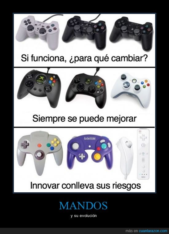 diseño,evolución,gamecube,mandos,n64,playstation,ps,wii,xbox