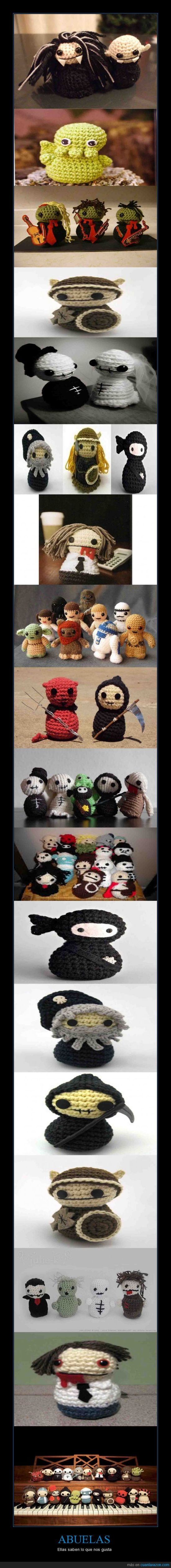 abuela,abueltas,adorable,creepers,crochet,star wars,tejido