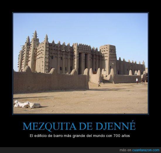 barro,como llueva la lían,djenne,edificio,mezquita