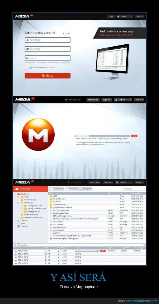 administrador de archivos,carga,mega,megaupload,nuevo,registro