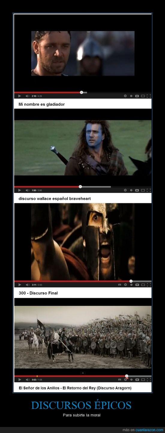 300,braveheart,discursos,el señor de los anillos,gladiator,leónidas