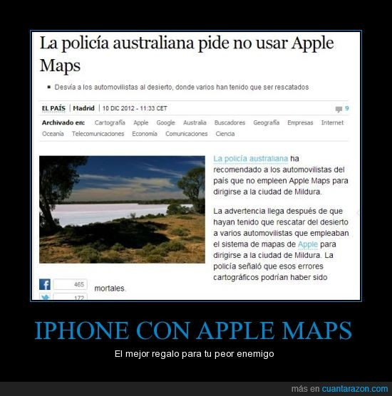 apple maps,desierto,lol,policia
