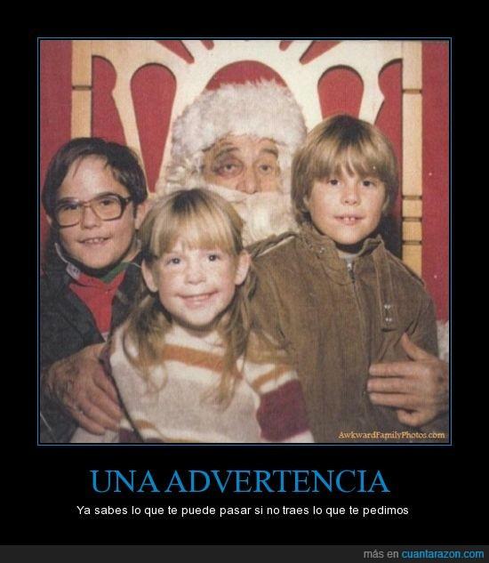 advertencia,cardenal,niños cabrones,ojo morado,paliza,Papa Noel,puñetazo,Santa Claus