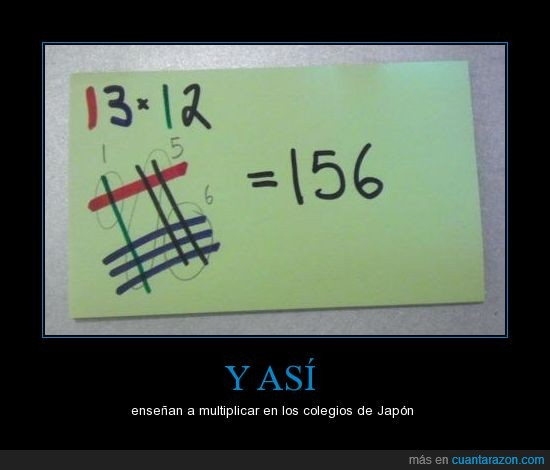 forma rara,japón,matemáticas,multiplicaciones