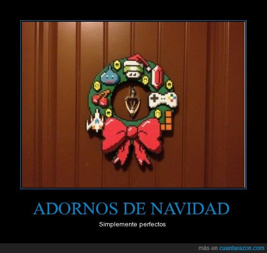 adorno,lazo,mario,navidad,pacman,pixart,pixel,seta,square enix,tetris,zelda