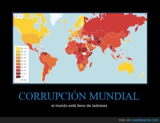 corrupción,gobiernos,gráfico,ladrones,mapa,mundial,países