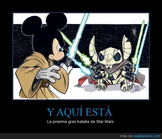 Grievous,Jedi,Maldito Disney,Mickey,Star,Stitch,Wars