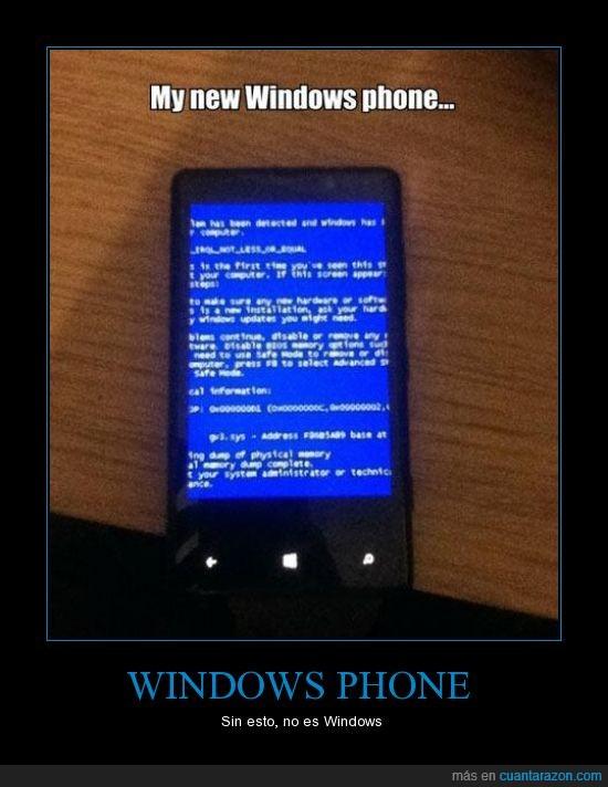 fail,móvil,pantallazo azul,windows