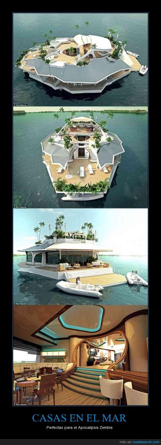 apocalipsis,baratisimo,barco,casa,lujo,mar,yate,zombie