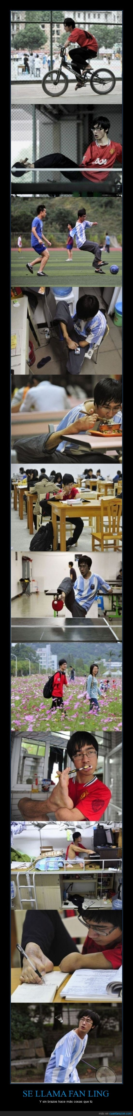 badminton,brazo,chino,fan ling,superacion