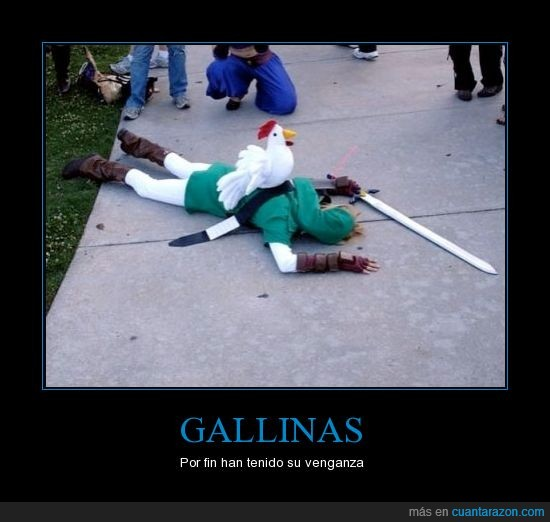 gallinas,lanzar,leyend of zelda,link,lol,no lances las gallinas o si no...,venganza
