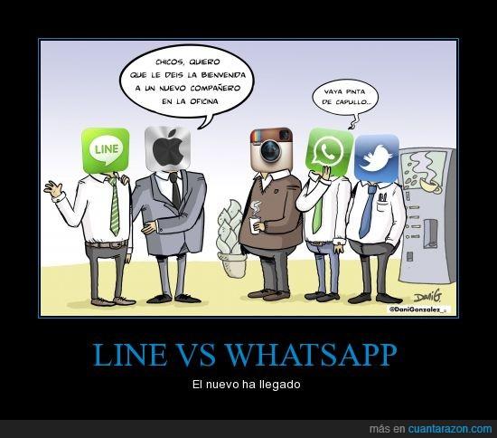 app,apple,bienvenida,instagram,line,nuevo,oficina,whatsapp