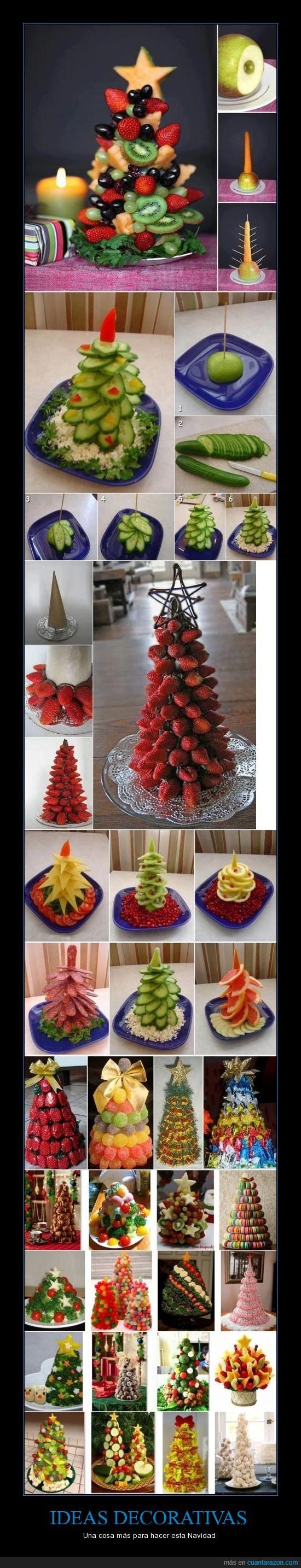 árbol de Navidad,decorar,foodporn,frutas,navideño,no lo vas a hacer pero te lo enseño de todos modos