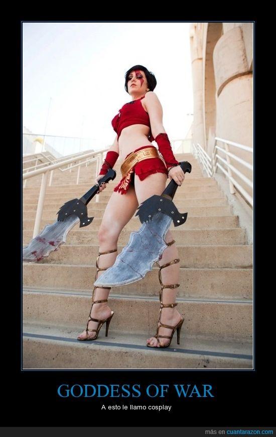 chica,cosplay,disfraz,god of war,kratos,mujer
