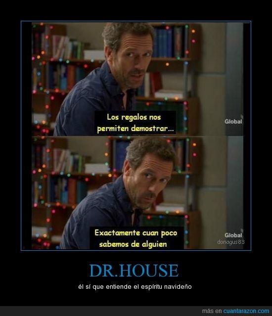 dr house,espiritu,navidad,nunca me publican los carteles,troll,wilson