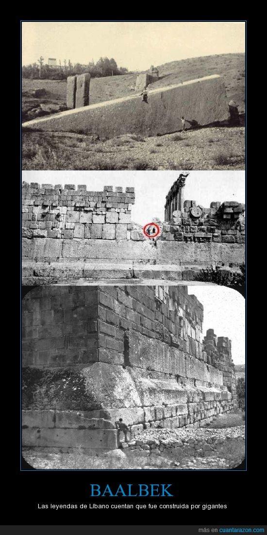 Baalbek,ciudad,gigante,leyenda,piedra