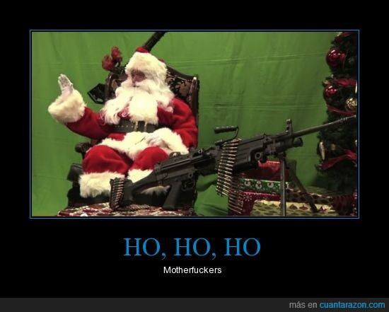 arma,cruda realidad,helicóptero,militar,motherfucker,Navidad,Santa