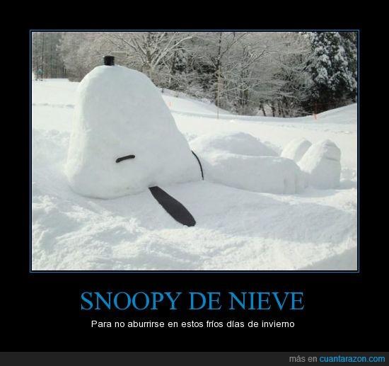 helada,invierno,nevar,nieve,snoopy