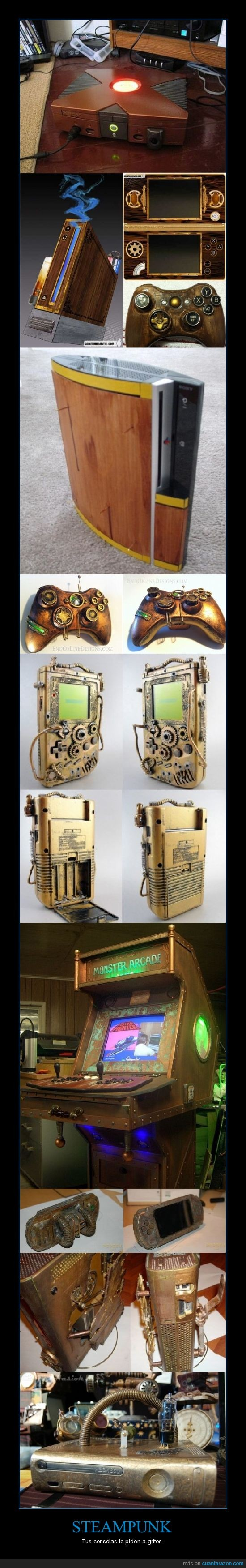 360,Arcade,consola,Game boy,pedir,Play staton,PSP,Steampunk,Wii,xbox