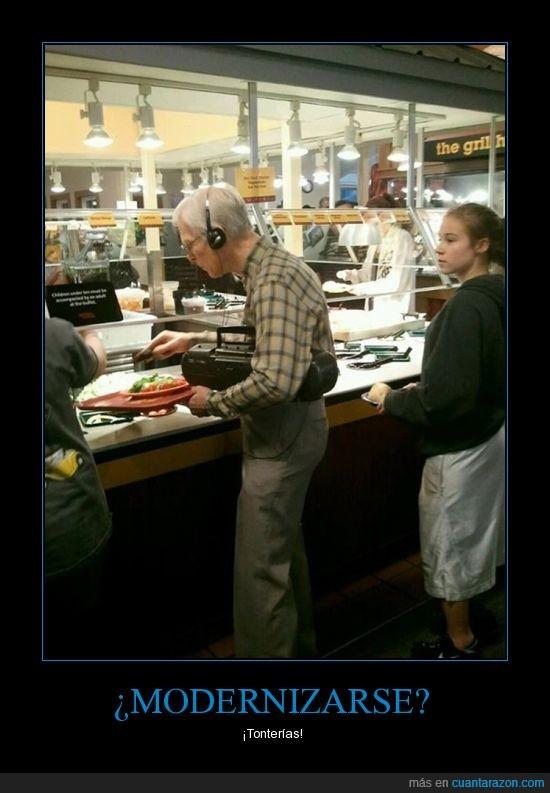 abuelo,casete,moderno,musica
