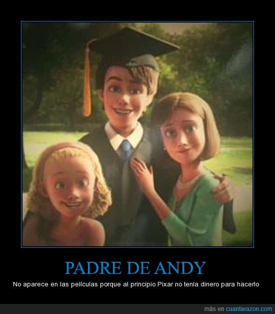 Andy,Disney,Mamá de Andy,Misterio,Molly,Papá de Andy,Toy Story
