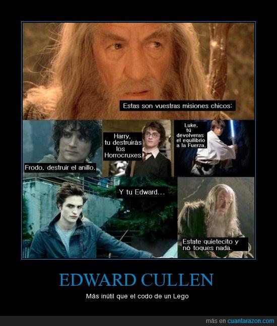codo,edward cullen,frodo,gandal,harry,lego,luke,sauron