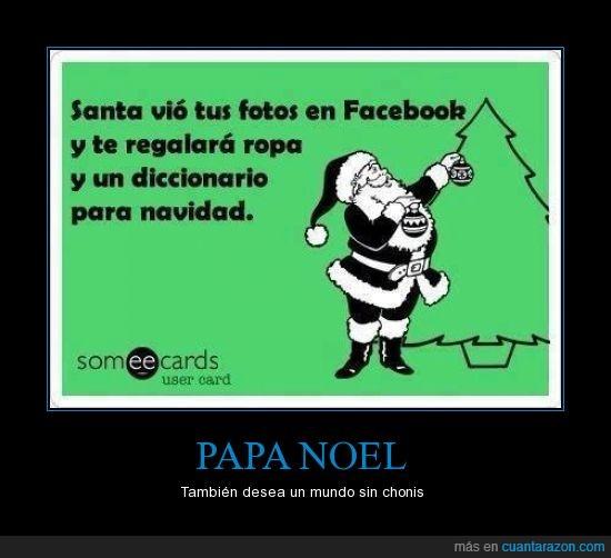 diccionario,facebook,foto,papa noel,regalo,ropa,Santa claus