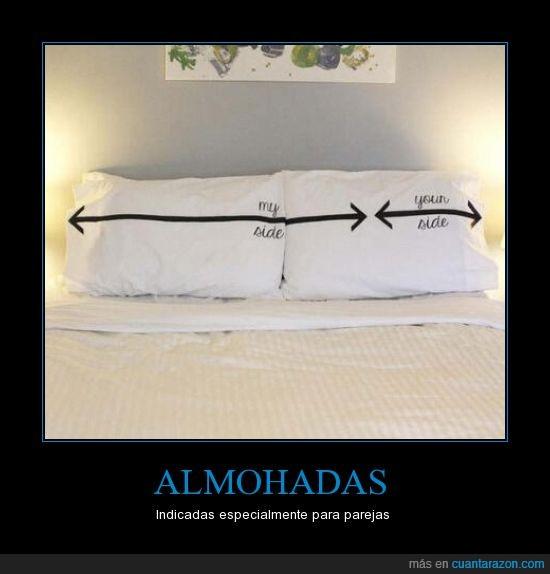 almohada,almohadas,espacio,flecha,lado,parejas,perfecto,side,sitio