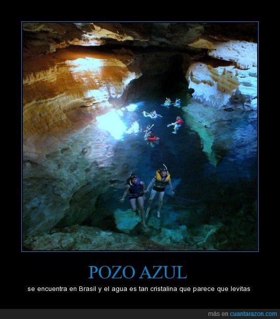 Brasil,cristalina,levitar,paraíso,pozo azul