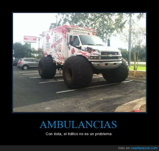 ambulancia,gigante,monster truck,rueda