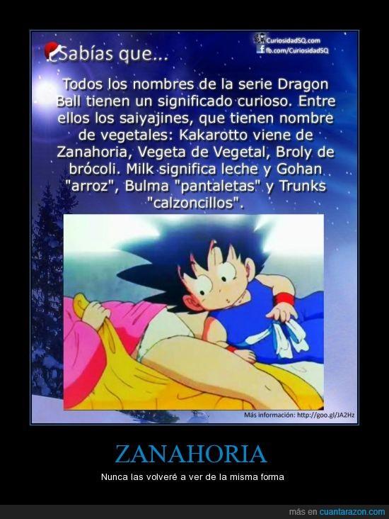Bulma,Dragon Ball,Goku,Kakarotto,Nombres,Sabias que