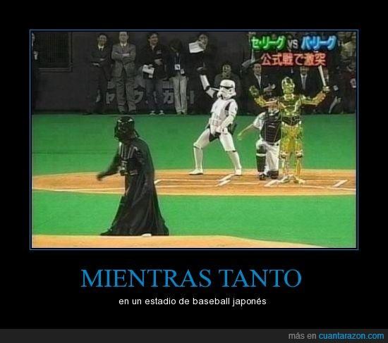 béisbol,C-3PO,Dark vader,japon,R2D2,soldado