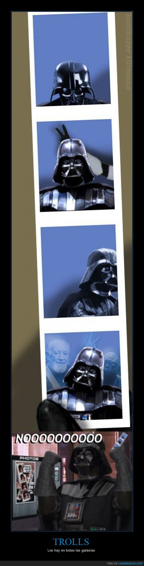 Darth Vader,galaxia,Obi Wan,Star Wars,stormtrooper,troll,Yoda