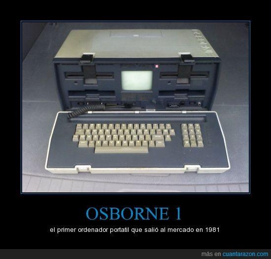 100Kb HDD,4MHz,60KB RAM,Ordenador,Osborne 1,portatil,primero