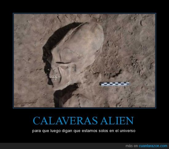alargada,alien,calavera,mal rollo,México,OMG vamos a morir