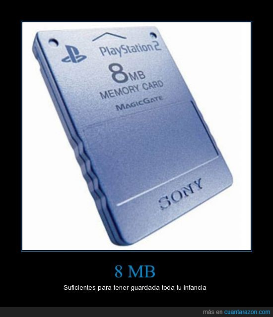 8 mb,consola,infancia,memory card,play station 2