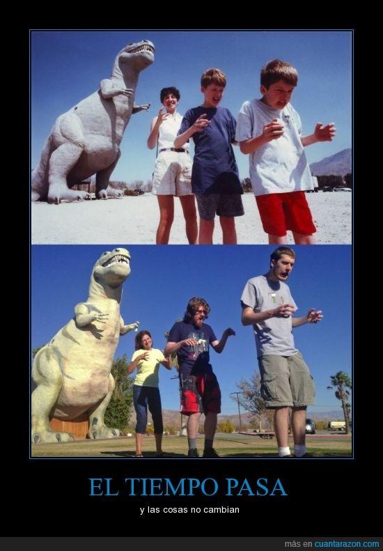 antes,cambia,cosa,crece,despues,dinosauria,foto,mayor,paso,tiempo