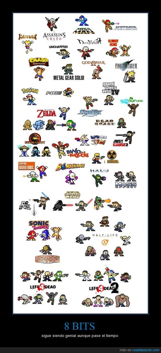 8,bits,gamer,juegos,l4d,megaman,retro,sonic,starfox,tiempo,videojuego