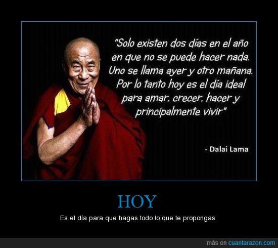 amar,año,crecer,Dalai Lama,días,dos,hacer,hoy,ideal,vivir