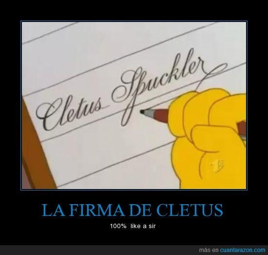100%,cletus,firma,like a sir,simspsons